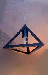 Triangle Shape Metal Hanging and Pendant Light Lamp For Home and Cafe