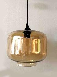 Golden Touch Clear Glass Hanging Light
