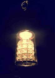 Cylindrical Glass With Crystal Decorate LED Hanging Light