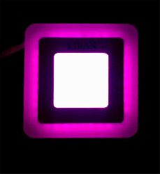 8W Pink & White Color Slim LED Panel Light