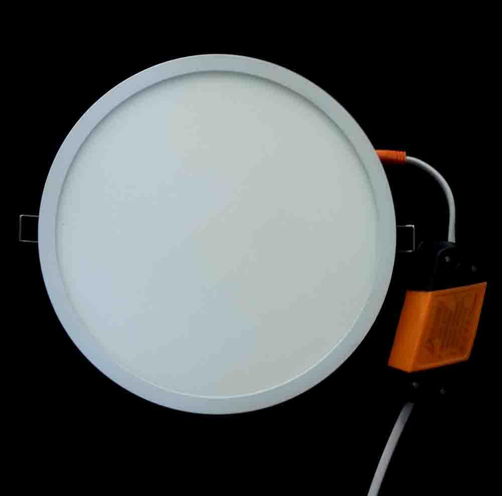 ultra slim round led panel light. Black Bedroom Furniture Sets. Home Design Ideas
