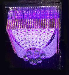 Crystal Glass Leaf Square Surface Mounted Chandelier