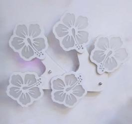 Big Size LED Wall Lamp With Five Flower Design