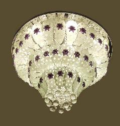 Fancy Musical Chandelier With Three Step Glass Leaf