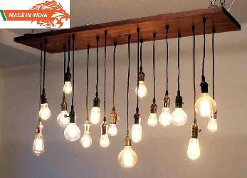 Made In India Products Big Size Vintage Design Natural Rope Filament Pendent Chandelier