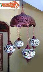 Made In India Handmade Moroccan Fixture Hanging Lamp