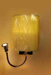 Fabric Wall Light with LED Reading Light