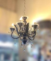 5 Light Black Italian Chandelier