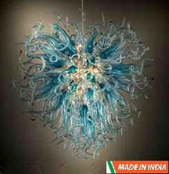 New Design Glass LED Hanging Chandelier