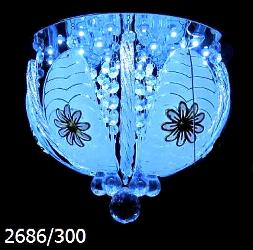 Crystal Decorate Surface Mounted Round Chandelier