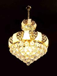 500 MM Golden Cut Crystal Ball Decorative Chandelier