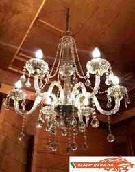 Designer Fancy Italian Chandelier With Six Glass Arm