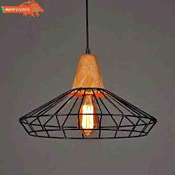 Industrial Metal Cage Hanging Light With Edition Filament Bulb