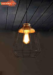 Rustic Iron with Vintage Edition Bulb Pendent Light