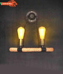 Industrial Metal Rope Art Filament Bulb Wall Sconce