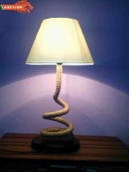 Floor and Table Lamp With Rope Retro Style