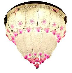Charming Design Glass Flower Bluetooth Operating Musical LED Chandelier