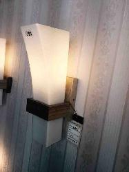 Wooden Base and Glass Lamp Wall Lamp For Home and Hotel Interior