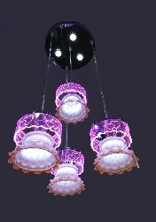 Decorative Double Step Glass Hanging LED Light