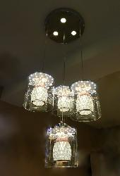 Crystal and Glass hanging Light