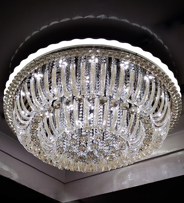 Brilliant Bright Glass and Crystal Three Color Jhoomar