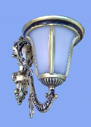 Antique Metal With Glass Shade Wall Lamp