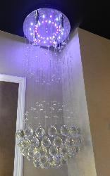 Beautiful Crystal Multi Color Changing LED Hanging Light