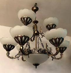 Latest 9 Light Antique Design Chandelier