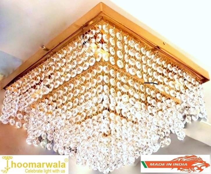 Best quality chandelier double step rectangle shape bright crystal led light chandelier aloadofball Images