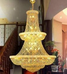 Magnificent Double Floor Big Size Crystal Chandelier