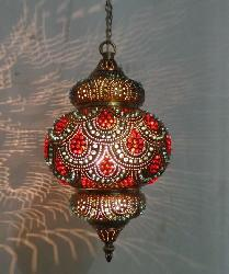 Moroccan Metal Shade Hanging Light