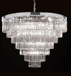 Elegant Contemporary Crystal Chandelier