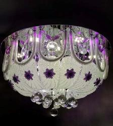 Decorative Chandelier With Multi Color LED Light and Sound System