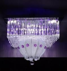 Glass Layer Crystal Design Multi Color Chandelier
