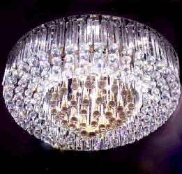 Large Size Crystal Decorative Chandelier With Three Color and Bluetooth,Sound System