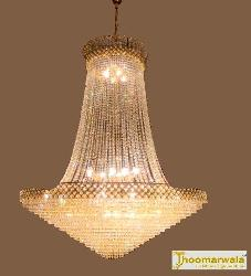Buy Golden Finish Crystal Chandelier at best price