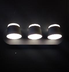 Latest Black Color Three LED Lights Wall Light