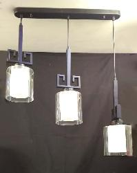 Three Clear Glass Lamp Pendant Light