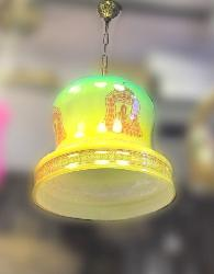 Colorful Glass and Lord Art Painting Pendant Hanging Light