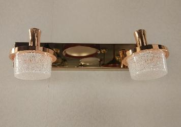 Double Copper Head With Textured Glass LED Picture Light