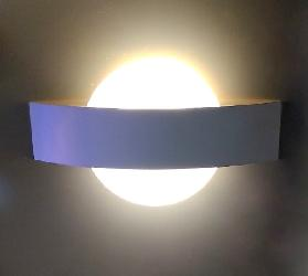 Modern LED Wall Light with Round Glass