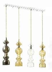 Different Shaded Glass Pendant Hanging Light