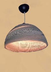 Basket Shape Cardboard Pendant Hanging Light