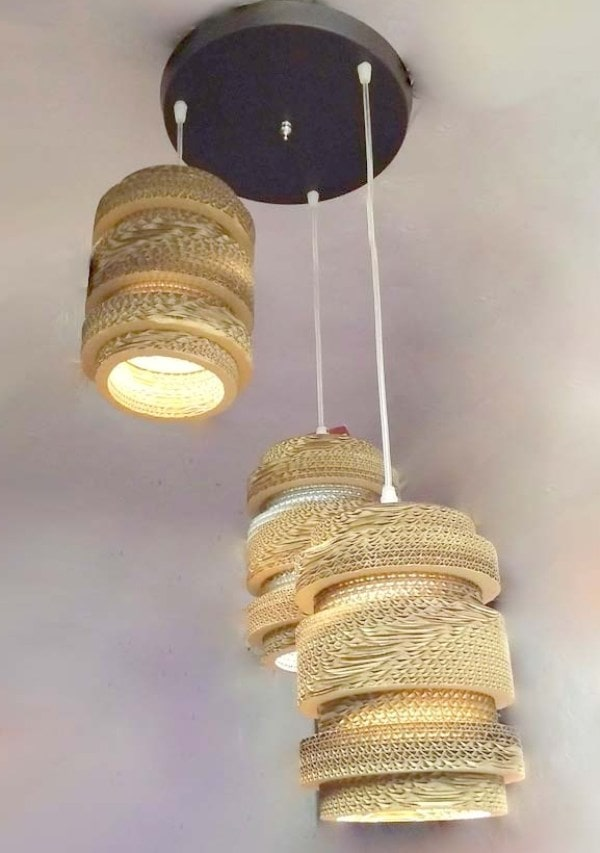 modern design cardboard lamp shade hanging light
