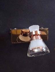 Conical Copper and Glass Head LED Mirror Light