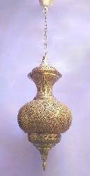 Mild Textured Illumination Mughal Style Lantern Pendant Hanging Light
