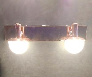 Double Head Copper and Textured Glass LED Dressing Mirror Light With Warm White Illumination