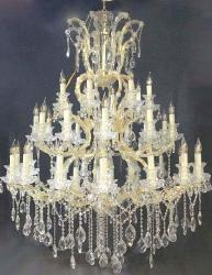 40 Bulb Light Big Size Italian Candle and Crystal Chandelier