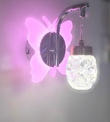 Butterfly Design Crystl Decorative LED Wall Light
