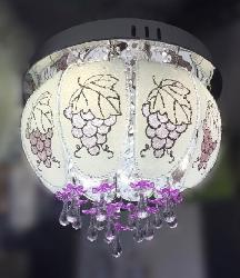 Grapes Design Glass Surface Mounted Multicolor Chandelier